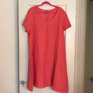 100% Linen Flax Dress